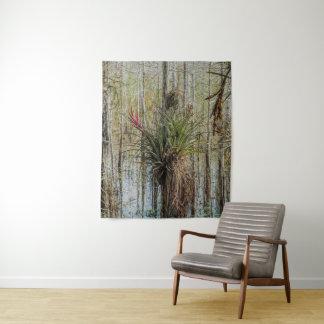 Bromeliad Wand-Tapisserie-Sumpfgebiet-Kunst Wandteppich