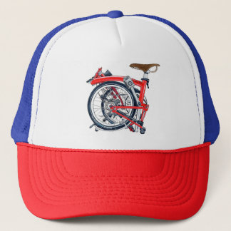 Brompton Fahrrad-Retro Kappe (Fernlastfahrer-Hut)