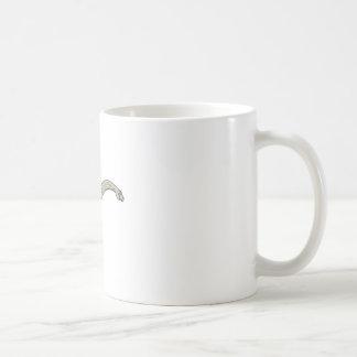 Brontosaurus-Dinosaurier, der hinunter Monolinie Kaffeetasse