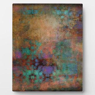 Bronze, aquamarines, lila abstraktes fotoplatte