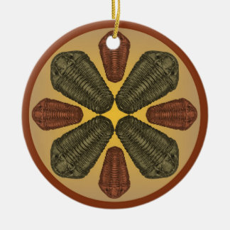 Bronze- und kupferne Calymene Niagarensis Keramik Ornament