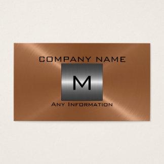 BronzeEdelstahl-Metall Visitenkarte