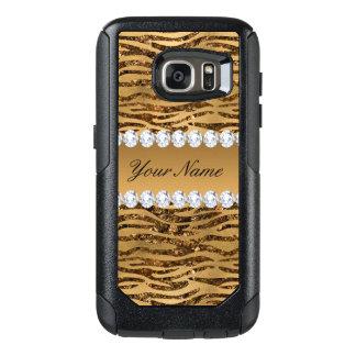 BronzegoldImitat-Foliezebra-Streifen OtterBox Samsung Galaxy S7 Hülle