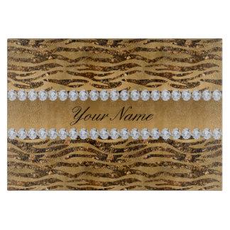 BronzegoldImitat-Foliezebra-Streifen Schneidebrett