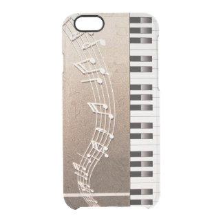 Bronzeklavier befestigt iphone Fall Durchsichtige iPhone 6/6S Hülle
