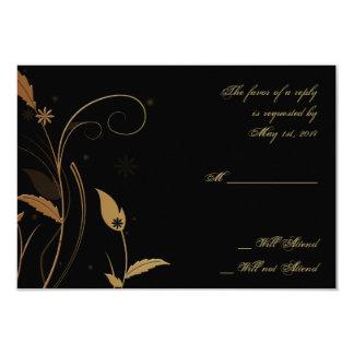 Bronzekunst-Deko-Pfau und Blumenwartekarte 8,9 X 12,7 Cm Einladungskarte