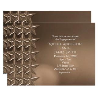 Bronzekupfer hat Bokeh Verlobungs-Einladungen in Karte