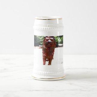 Bronzelöwe - Löwe-Herz-Entwurf Bierglas