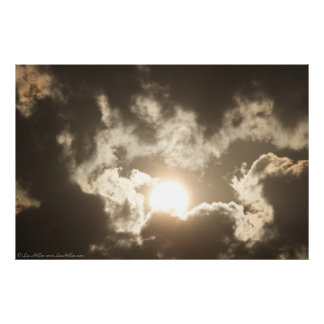 Bronzesonnenaufgang-Sturm-Wolken-Plakat Poster