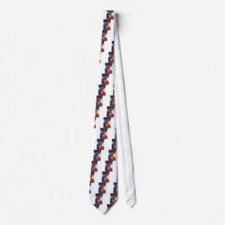 Bronzestern auf amerikanischer Flagge Bedruckte Krawatte