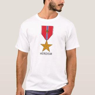"""Bronzestern mit """"v-"""" - Heldentum T-Shirt"""