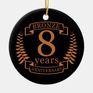 Bronzieren Sie achten Hochzeitstag 8 Jahre Keramik Ornament