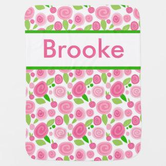 Brookes personalisierte Rosen-Decke Babydecke