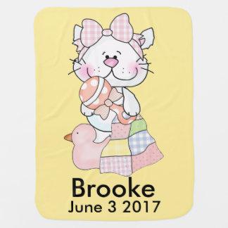 Brookes personalisierter Kitty Kinderwagendecke