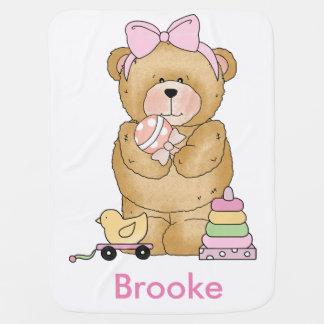 Brookes Teddy-Bärn-personalisierte Geschenke Kinderwagendecke