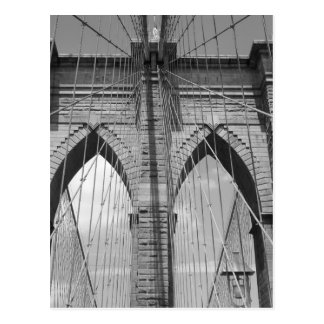 Brooklyn-Brücke - B&W Postkarte