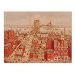 Brooklyn-Brücke, c.1883 Postkarte
