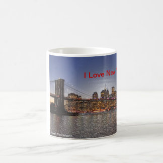 Brooklyn-Brücke mit New- York CitySkylinen Kaffeetasse