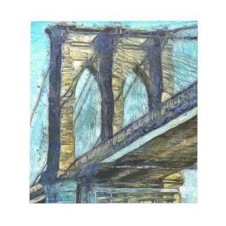 Brooklyn-Brücke Notizblock