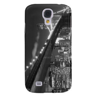 Brooklyn-Brücke und Manhattan-Skyline nachts Galaxy S4 Hülle