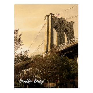 Brooklyn-Brücke von Brooklyn Postkarte
