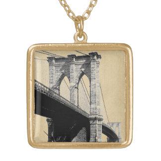 Brooklyn-Brücken-Fähren 1896 Vergoldete Kette