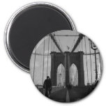Brooklyn-Brücken-Foto Runder Magnet 5,7 Cm