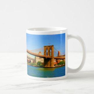 Brooklyn-Brücken-Malerei Kaffeetasse