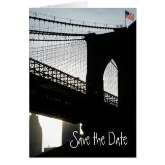 Brooklyn-Brücken-Save the Date Karte