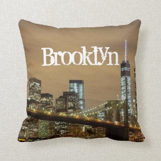 Brooklyn-Brücken-Skyline Kissen