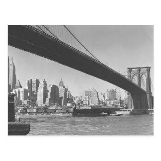 Brooklyn-Brücken- und Manhattan-Skyline New York Postkarte