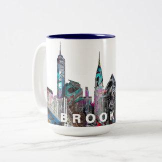 Brooklyn in den Graffiti Zweifarbige Tasse
