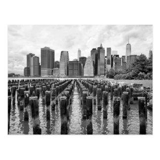 Brooklyn-Pier-Masten Postkarte
