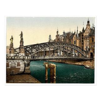 Brooksbridge, Hamburg, Deutschland seltenes Postkarte