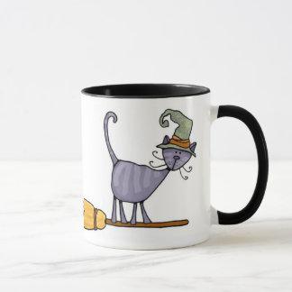 Broomstick Kitty-Tasse Tasse