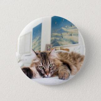 Brosche Cat Runder Button 5,1 Cm