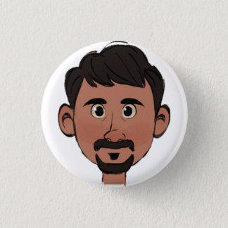 Brosche Gilberto Runder Button 3,2 Cm
