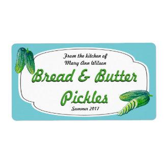 Brot-und Butteressiggurken-Einmachen