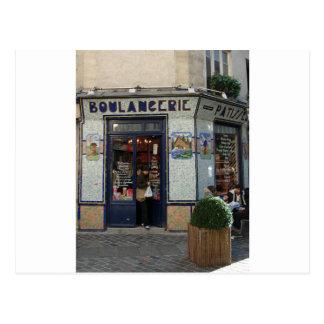 Brot-und Gebäck-Geschäft ~ Paris Frankreich Postkarte