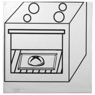 Brötchen im Ofen, lustiges Baby in der schwangeren Serviette