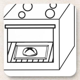 Brötchen im Ofen, lustiges Baby in der schwangeren Untersetzer