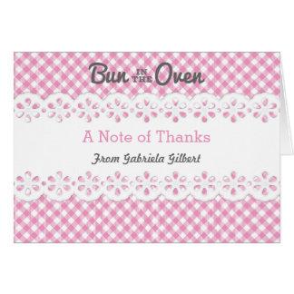 Brötchen in der Ofen-Babyparty danken Ihnen zu Karte
