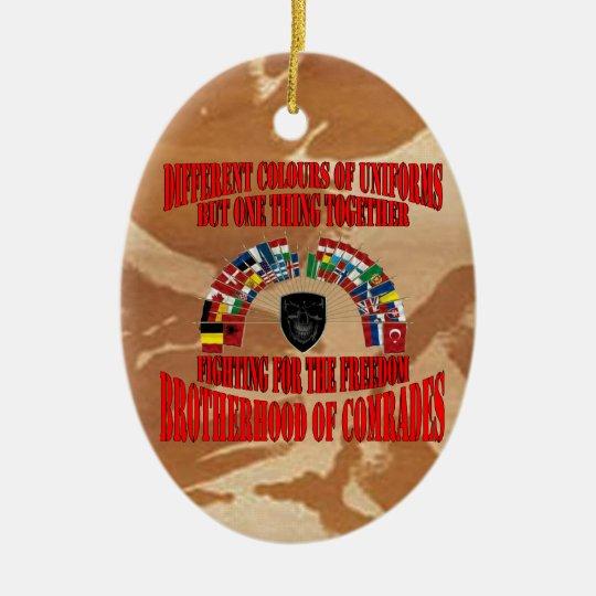 Brotherhood of Military Comrades Keramik Ornament