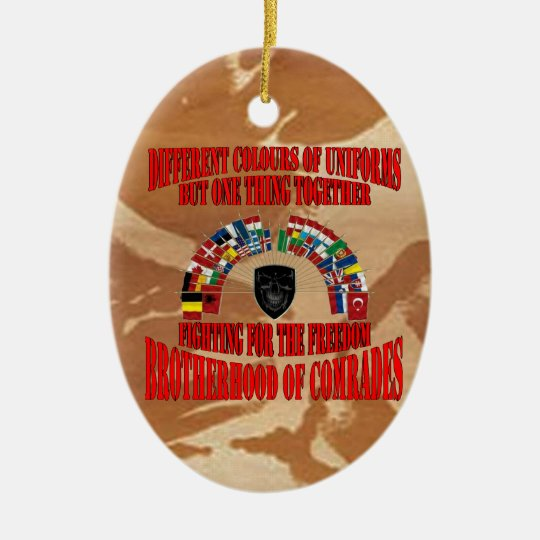 Brotherhood of Military Comrades Ovales Keramik Ornament