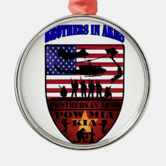 brothers is arms rundes silberfarbenes ornament