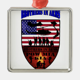 brothers is arms quadratisches silberfarbenes ornament