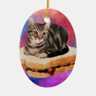 Brotkatze - Raumkatze - Katzen im Raum Keramik Ornament