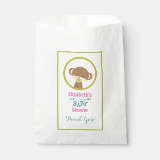 Brown-Baby-Affe mit Schnuller-Baby-Duschen-Dank Geschenktütchen