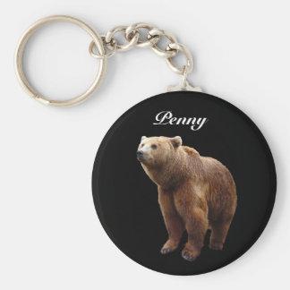 Brown-Bär personalisiert Schlüsselanhänger