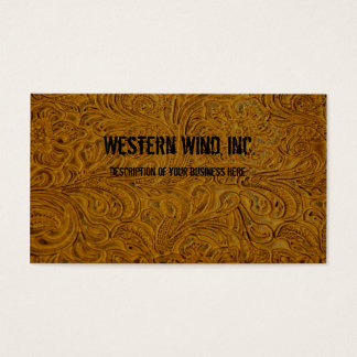 Brown bearbeitete lederne Visitenkarte